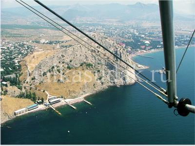 Пляжи Уютного и Генузэская крепость, вид сверху