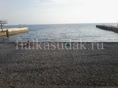 Судак, Уютное, городской пляж