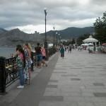 Гора Сокол, Крепостная гора и гора Перчем, вид с Набережной