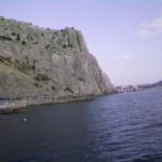 Крепостная гора, вид с моря
